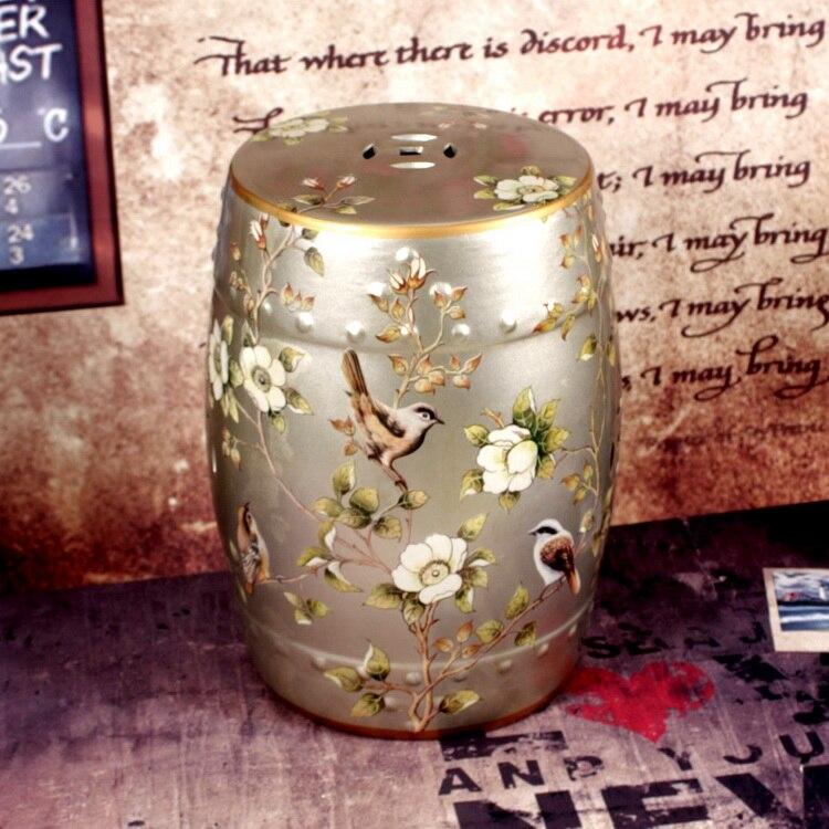 Jingdezhen Antique Home Porcelain Garden Stool High Temperatured Glazed  Chinese Drum Stool(China)