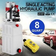 8 кварта подъемники для автомобилей гидравлический пластмассовый насос Питание блок одностороннего действия для Самосвальный Полуприцеп 12V