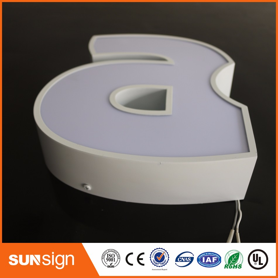Aliexpress Factory Outlet Custom Outdoor Advertising Front Lit Acrylic Led Signs Letters