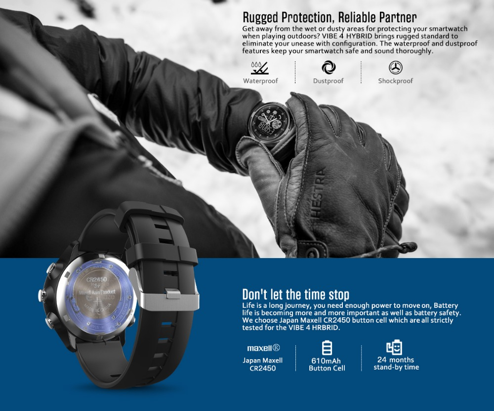 New Zeblaze VIBE 4 Hybrid Flagship Rugged Smartwatch 50M Waterproof 33-month Standby Time 24h All-Weather Monitoring Smart Watch 13