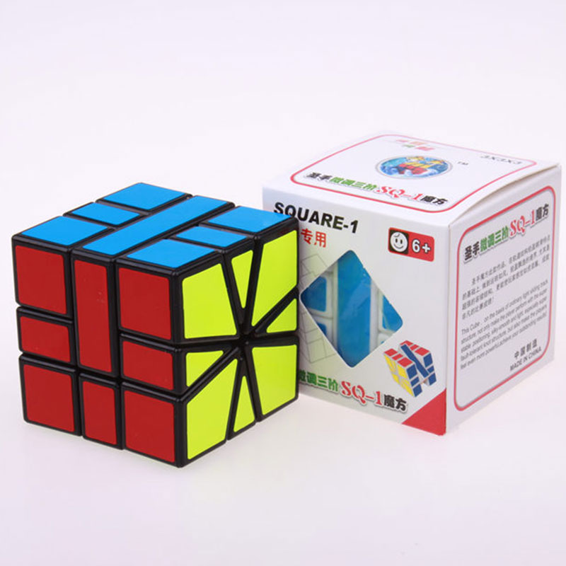 Sheng Shou Square-1 magic speed cube pendidikan profesional 3X3X3 SQ1 - Teka-teki - Foto 6