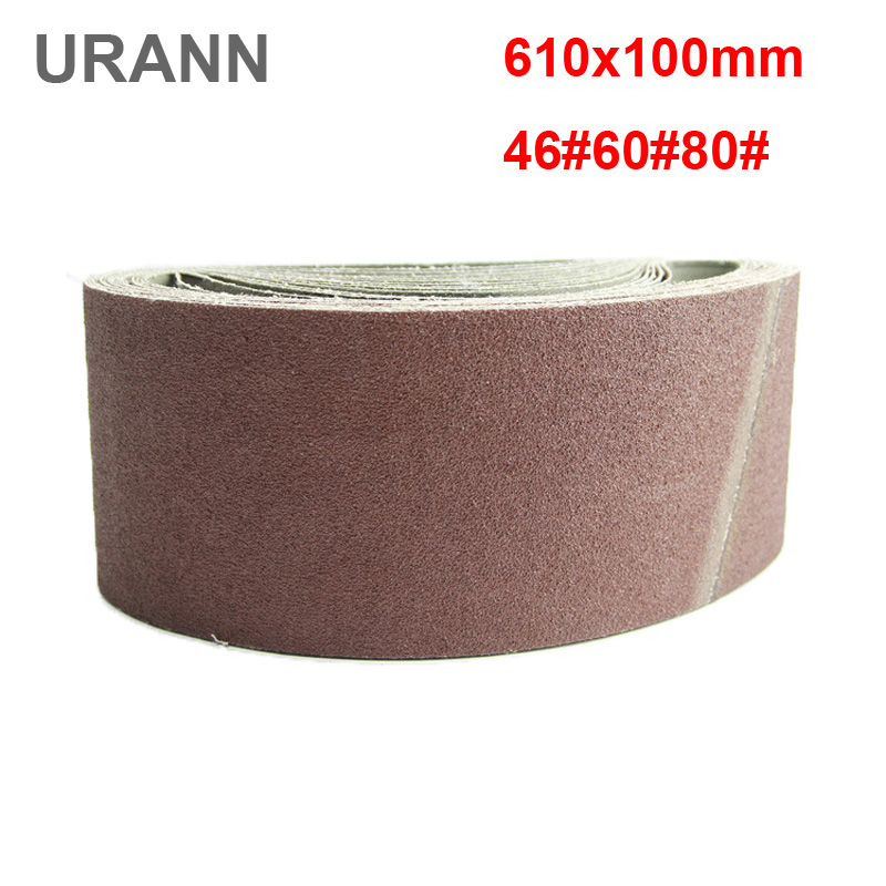 URANN 5 Pieces 610x100mm Sanding Belts 40 60 80 Grit Sandpaper Abrasive Bands For Sander Power Rotary Tools Dremel Accessories