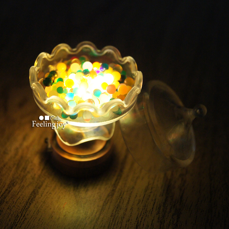 Toys & Hobbies Independent Spmart Bronze Metal 1:12 Dollhouse Miniature Led Desk Lamp Model With Umbrella Shape Lampshade
