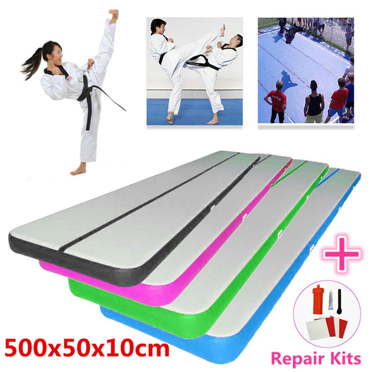 500x50x10 cm Airtrack Air Piste Plancher Maison Gonflable Gymnastique Tumbling Mat GYM Gonflable Équilibre Équipement D'exercice