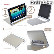 For Lenovo Yoga 10.1 B8000 Smart Cover Case Silk Print PU Leather ,Gift Screen Protector+Pen Stylus