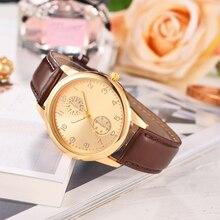 Business Men luxury Watch Clocks Simple Quartz Rose Gold Leather Strap Dress Party WristWatches relogio masculino