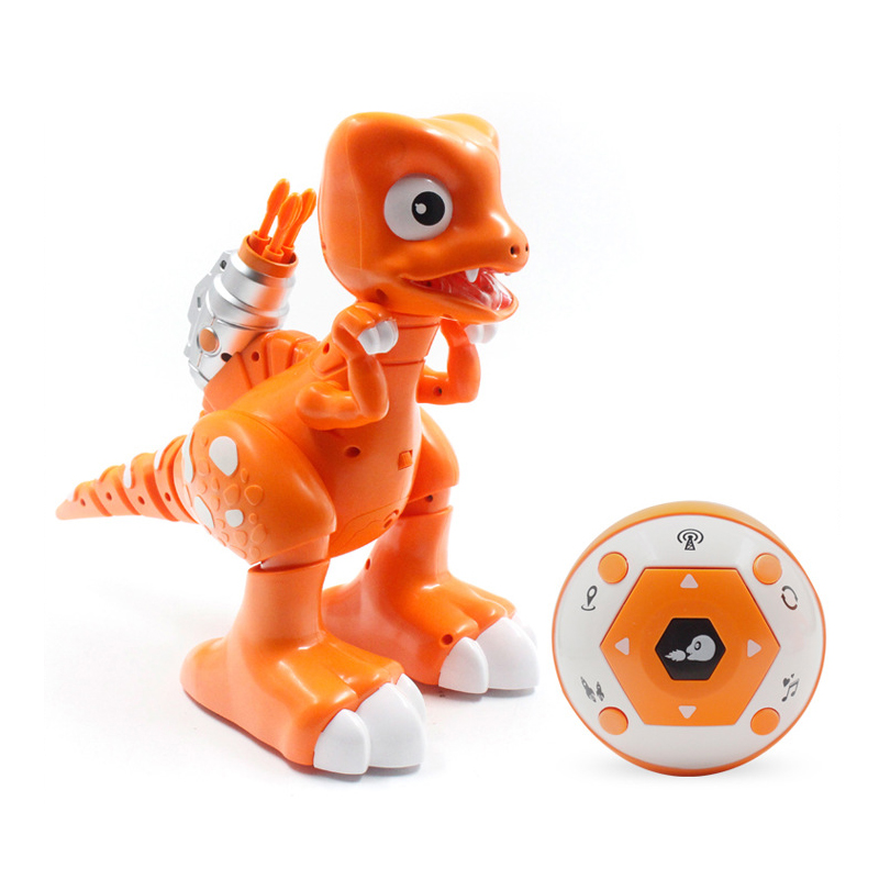 Robot de marche dinosaure RC avec chanson jouets animaux télécommandés jouets de danse intelligents respirant le feu pour les cadeaux d'enfants
