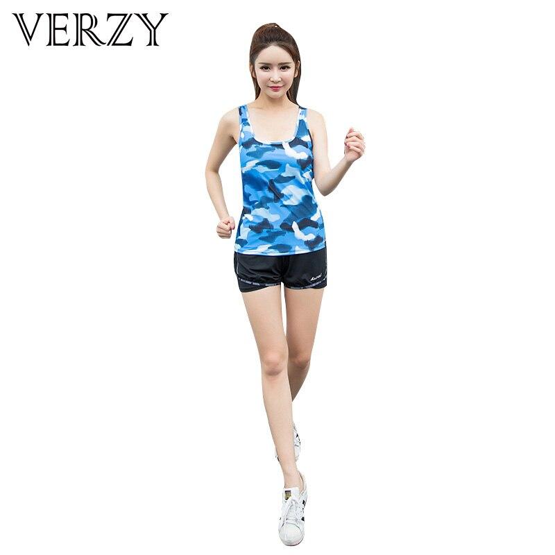 Women font b Sport b font Yoga Set Sportswear Vest Short Fitness Elasticity Gym font b
