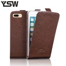 YSW Для iPhone 7 Plus Натуральная Кожа Case Роскошные Откидная Крышка Высокое Качество YOURSWAY Подарок С Экрана Протектор(China (Mainland))