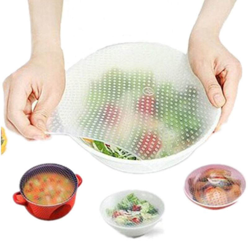 Reusable-Silicone-Wraps-Seal-Cover-Stretch-Cling-Film-Food-Fresh-Keeping-Lid