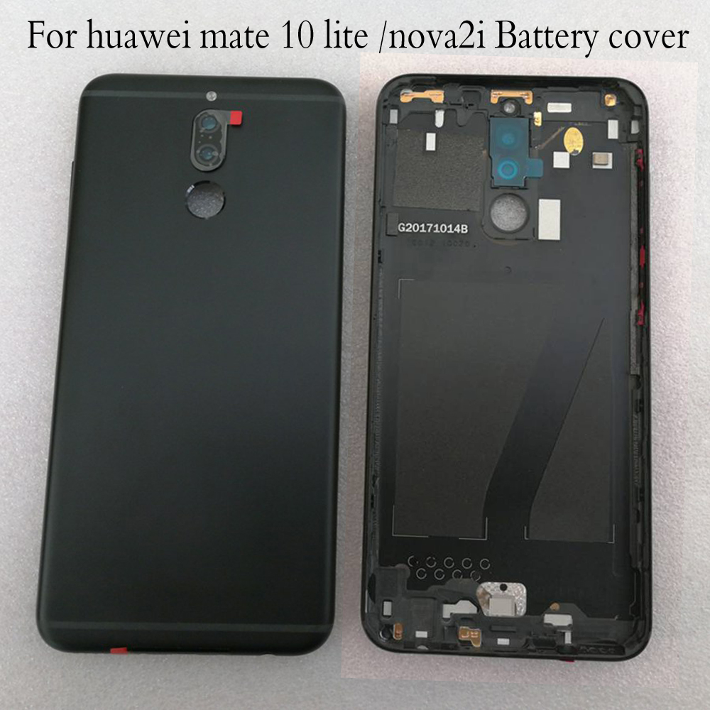 Original Battery Door Back Cover Housing  For Huawei Nova 2i /mate 10 Lite Battery Cover Replacement Parts With Logo