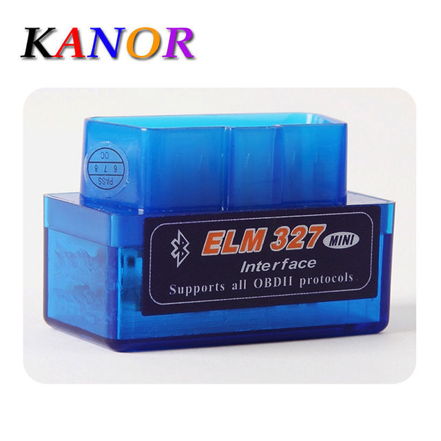 KANOR Latest Version Mini ELM327 Auto Scanner ELM 327 Bluetooth OBD2 for Android Torque OBDII Car Vehicle Scan Diagnostic Tool