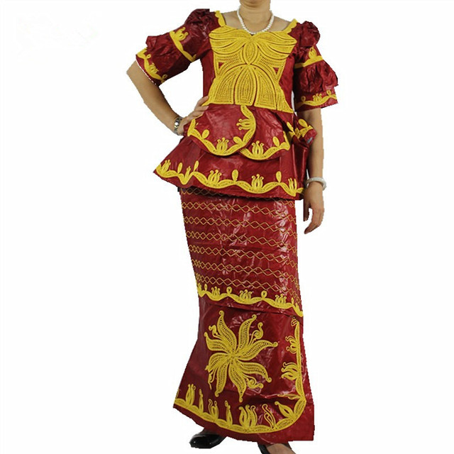 Riche Bazin Africa Clothing Cotton Traditioncal Long Dress Women Classic Embroidery Kanga Clothing  Plus Size World Apparel
