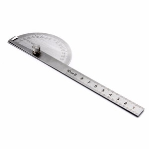 Image 4 - 1pc 180 Degree Adjustable Protractor Angle Finder Angle Ruler Round Head Rotary Stainless Steel Measuring Tool for Woodworking