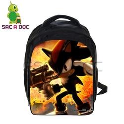 Sonic Super Mario plecaki Cartoon dzieci torba szkolna s dla chłopców dziewcząt Plecak studentów podstawowej dzieci torba szkolna Plecak Szkolny 1