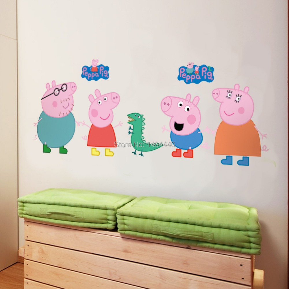 Peppa pig wall mural image collections home wall decoration ideas peppa pig wall stickers choice image home wall decoration ideas pig sticker picture more detailed picture amipublicfo Images
