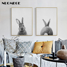 Kawaii Animal Rabbit Canvas Painting Wall Art Posters And Prints  Bunny Pictures For Living Room Nordic Nursery Home Decoration