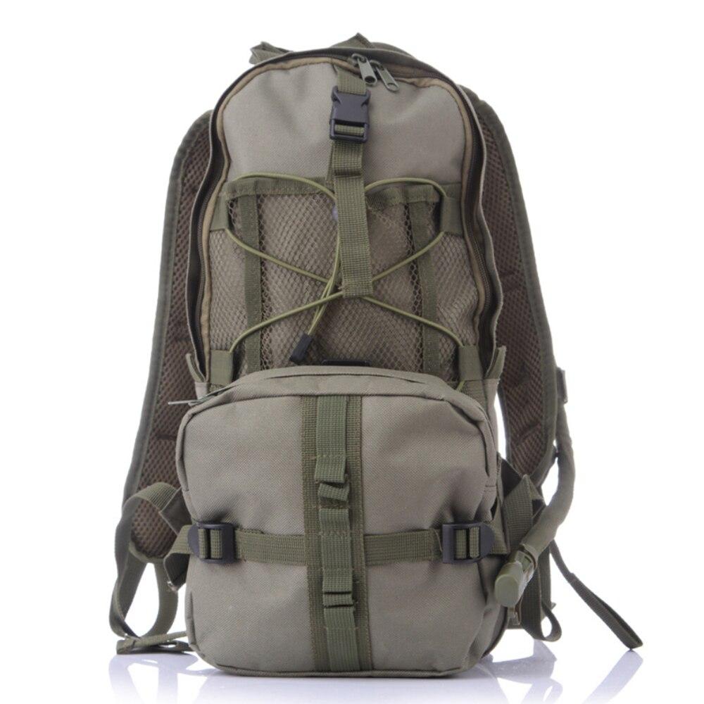 Sac à eau multifonctionnel de sac d'équitation de camping de 3L, sac à dos tactique militaire d'hydratation Molle, sac à eau en Nylon pour le cyclisme