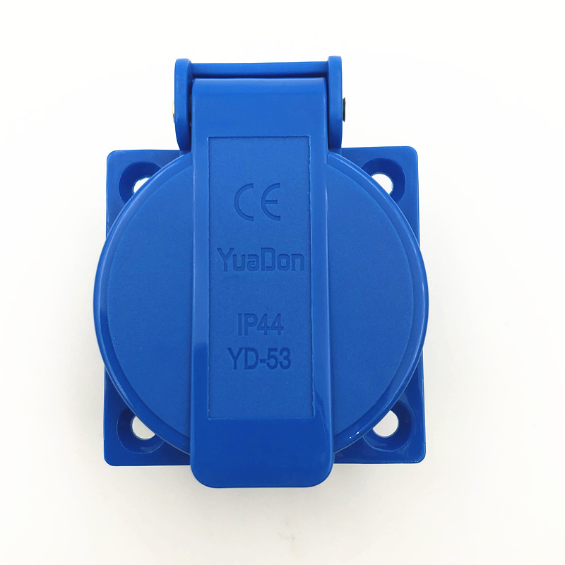 Купить с кэшбэком Multi - function industry safety outlet 10A 250V IP44 CE  universal waterproof power connector socket