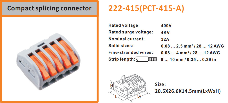155PCS/set) mini fast WAGO Connector Mixed Model Box Universal ...