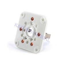 1pc 5Pin 3-500Z 4-400 U5G Base Ceramic Tube Socket For Guitar DIY Amp Parts