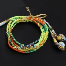 Fashion Design Wired Braided Bracelet Earphone 3.5mm