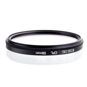 Image 2 - עלייה 58mm המקטב CPL C PL מסנן עדשת 58mm עבור Canon NIKON Sony אולימפוס מצלמה