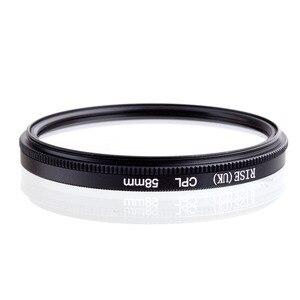 Image 2 - RISE 58mm polaryzacja kołowa CPL C PL soczewka filtra 58mm do aparatu Canon NIKON Sony Olympus