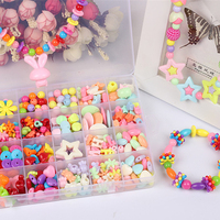 Girl Beads Make Up Jewelry Bracelet Necklace DIY Toys For Children String Beads Puzzle Toys Building