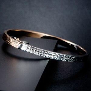 Image 3 - Pulsera de oro puro de 18K para mujer, brazalete de oro sólido auténtico AU 750, bonito y hermoso, joyería fina de fiesta clásica de lujo, producto en oferta 2020