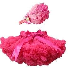 Лидер продаж высокое качество наряд для девочек детские Юбка для девочек с перьями оголовье юбка-пачка для малышей юбки Детская Пышная юбка