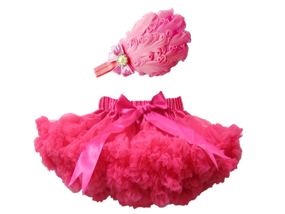2015 Hot Sale High Quality Baby Girl Outfit Baby Girls Skirt With Feather Headband Baby Tutu