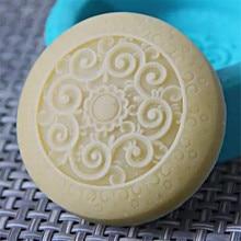 Классическая Цветочная круглая форма для мыла, форма для торта, свеча, ароматерапия воском, гипсовая силиконовая форма