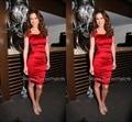 Платье-Де-Феста Курто 2015 Sexy Оболочка Слизь Красный Колена Коктейльные Платья Плюс Размер Женщин Платье Для Партии Короткий