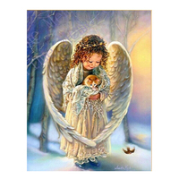 2015 High Quality DIY Diamond Painting Angel 5D 3D Crystal Needlework Gift Full Embroidery Home Decoration