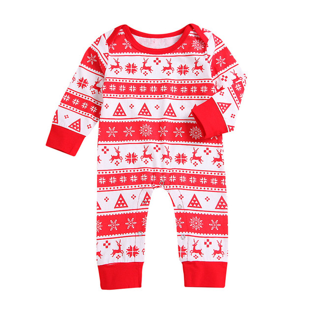 7b407736fe76 0-24M Long Sleeve Christmas Newborn Infant Baby Boys Girls Deer Romper  Jumpsuit Outfits Clothes Drop Shipping