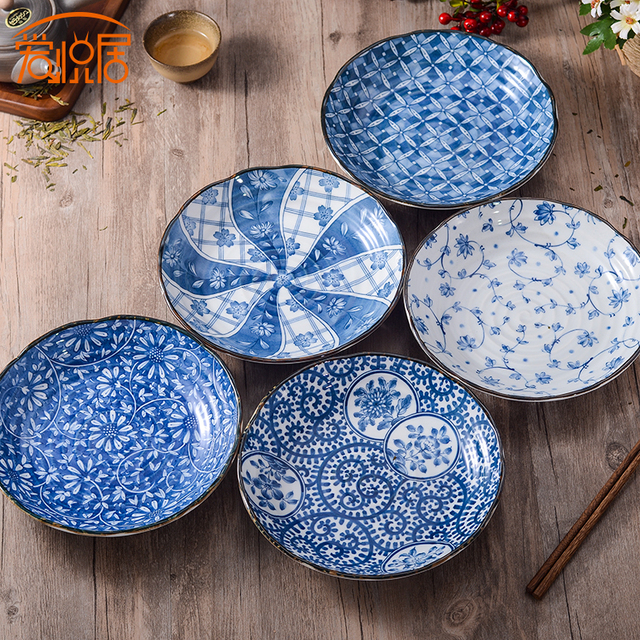 Japanese Hand-painted Ceramic Dish Plate Soup Salad Bowl Creative Tableware High Quality Made in & Japanese Hand painted Ceramic Dish Plate Soup Salad Bowl Creative ...