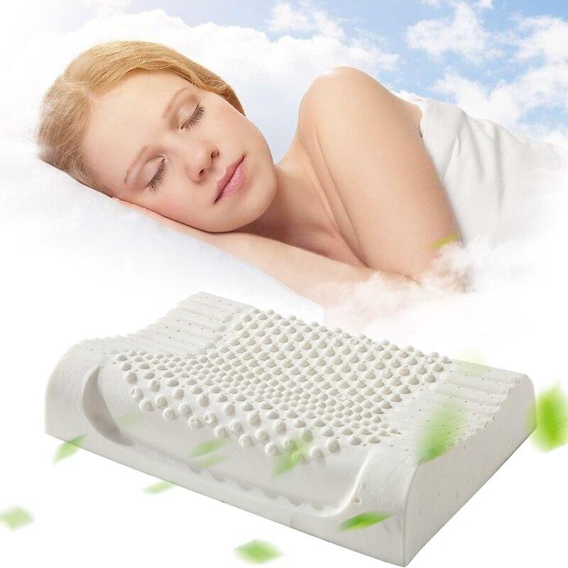 Forró értékesítés Természetes latex nyaki ortopéd párna alvó - Lakástextil
