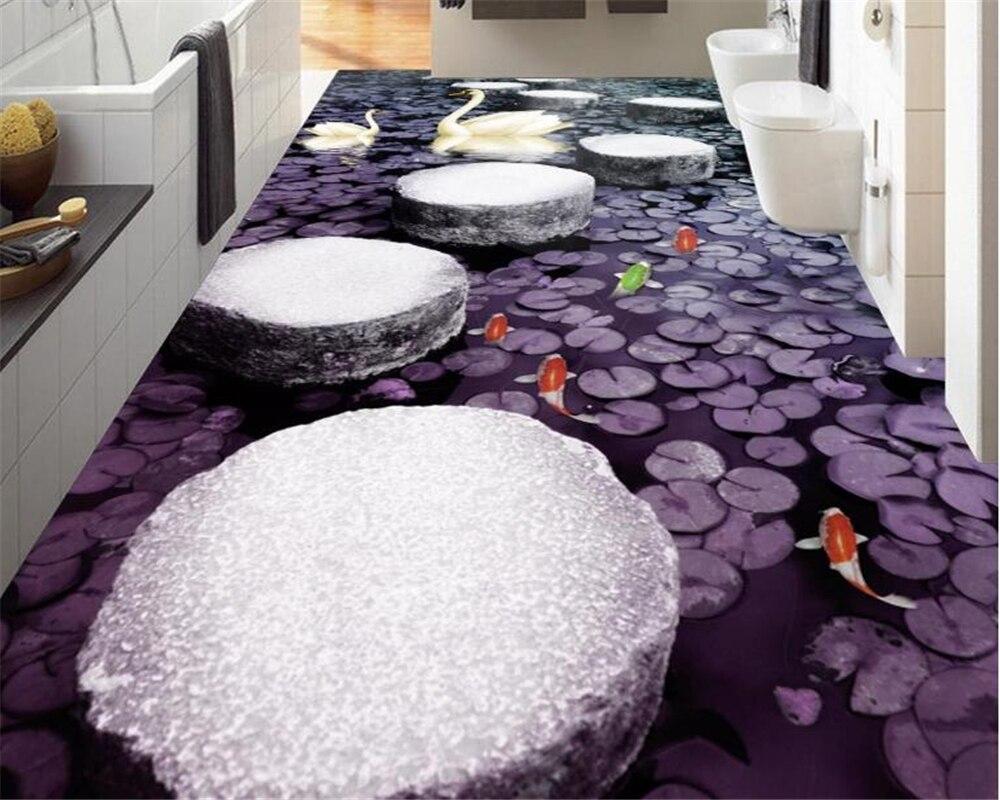 Beibehang Творческий Простой Большой обои маленький камень Pier 3D полы с объемным роспись плитки Papel де Parede