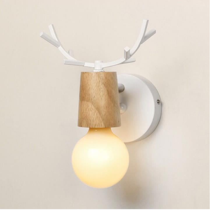 LED Wall Lamp Wooden Iron Nordic Vintage Modern Loft Bathroom Bedroom Living Room Bedside Stair Creative Home Lights 2
