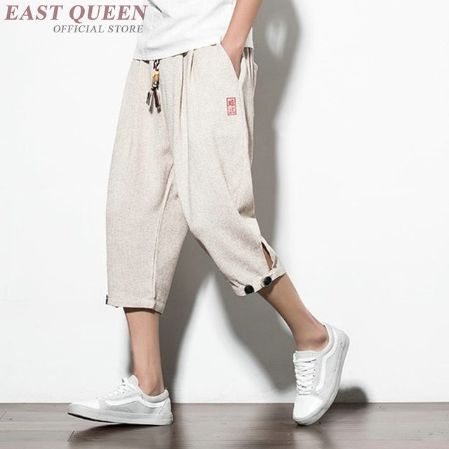 23217b2079 Cropped trousers for male trousers traditional chinese clothing for men  casual pants men clothing 2018 AA3870 Y A