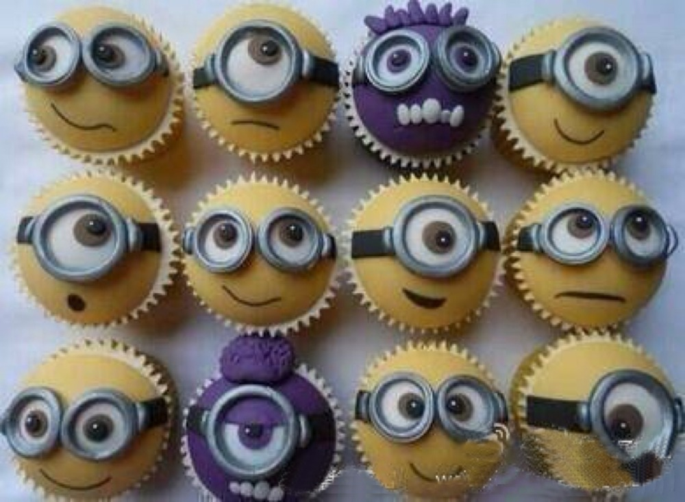 High Quality Lovely Minions Eyes Design Cupcake Decoration