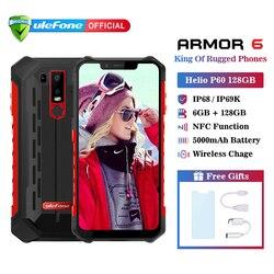 Ulefone Armatura 6 IP68 Impermeabile Del Telefono Mobile Android 8.1 Helio P60 Octa Core 6 GB 128 GB Viso ID NFC IP69K Rugged Smartphone