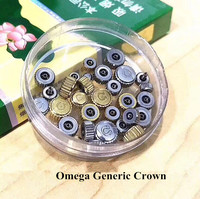 Free Shipping 30pcs Stainless Steel Generic Crowns for Different Brand Watch Repair