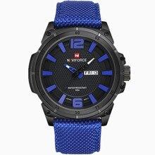 NAVIFORCE 2019 Для мужчин Роскошные часы военные часы Для мужчин кварцевые наручные спортивные Дата часы бренд Для мужчин Повседневное нейлон часы 9066
