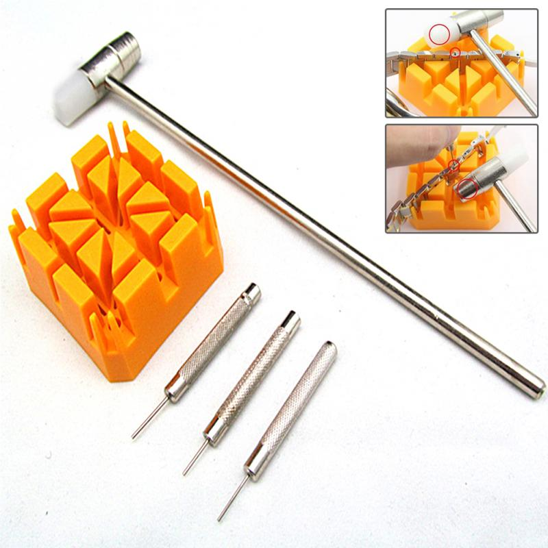 Bracelet Hammer Strap-Holder-Kit Punch-Pins Watch-Band Repair-Accessories-Tools Link