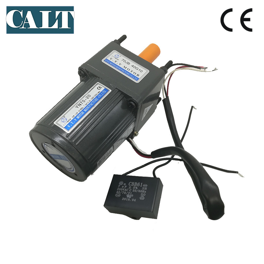 hight resolution of aliexpress com buy vtv motor 220v 20w ac gear motor yn70 20 10mm shaft single phase 3 wires ac reduction electric motor from reliable level measuring