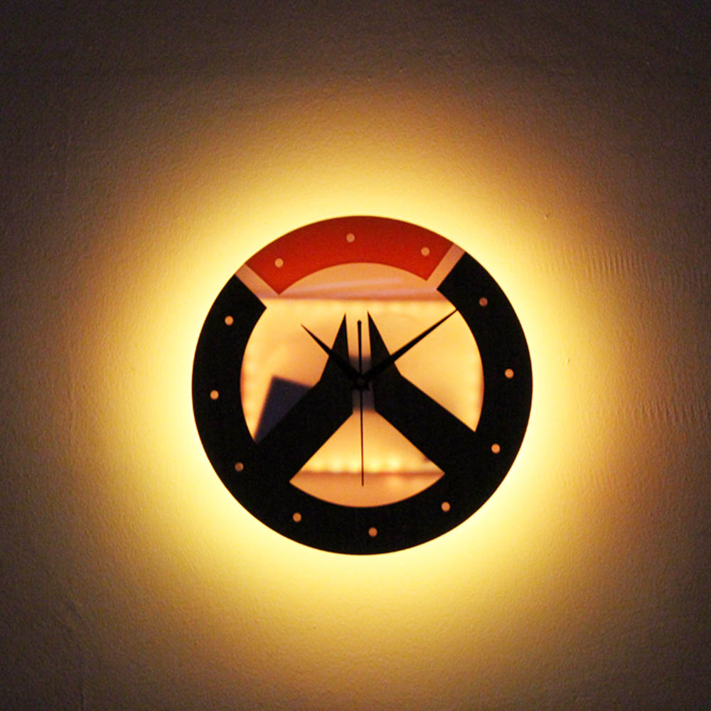 Overwatch LED Wall Lamp Clock Sconce Night Lights Hanging Lamp Bed ...