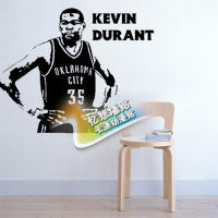 Free Shipping Diy Vinyl Basketball Wall Stickers The Oklahoma City Thunder Team Star Kevin Durant Children