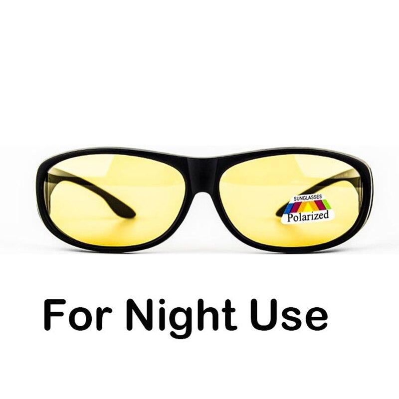 Night driving Polarized fitover fit over sunglasses block high beam light wear on prescription glasses  Очки
